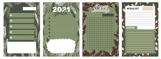 Christmas holiday sticker, journal, notes set