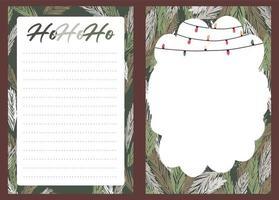 pegatina navideña, diario, conjunto de notas
