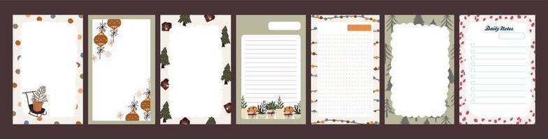 diario de vacaciones de navidad, juego de bloc de notas