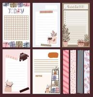 Christmas holiday journal, notepad, tape set vector