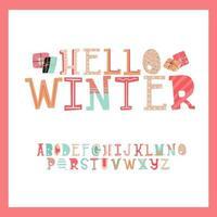 lindo alfabeto de navidad vector