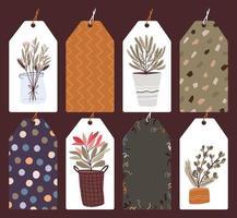 etiquetas navideñas, conjunto de etiquetas de regalo