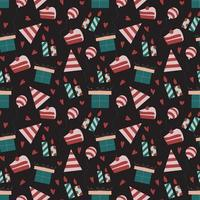 Birthday seamless wallpaper pattern