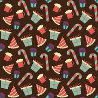Seamless chocolate pattern with sweet candy vector
