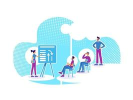 grupo de coaching empresarial vector