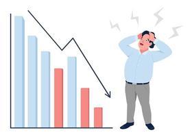 gráfico de crisis financiera vector