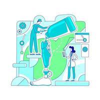 Prosthetics laboratory workshop vector