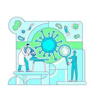 Virology science lab vector