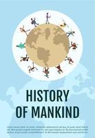 cartel de la historia de la humanidad vector