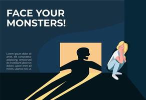 Face your monsters banner