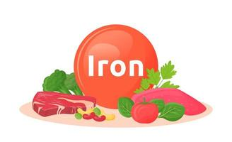 Products containing iron