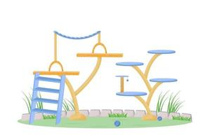 Playground in the park vector