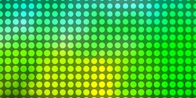 Light Green background with circles.