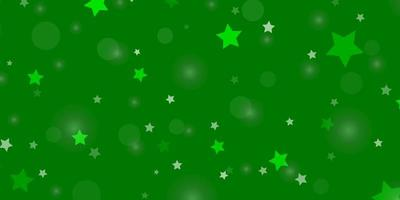 Light Green background with circles, stars.