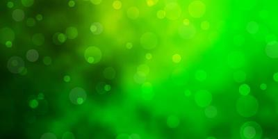 Light Green background with circles