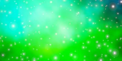 Light Green template with neon stars.