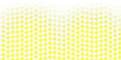 Light Yellow vector texture with disease symbols.