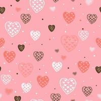 patrón sin fisuras con corazones para el día de san valentín