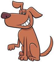 Cartoon funny dog pet animal character vector