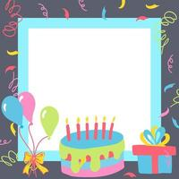 cajas de regalo de feliz cumpleaños vector