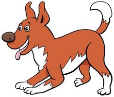 Cartoon playful dog pet animal character vector