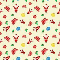 navidad lindo salto santa claus cereza lámpara amarillo patrón