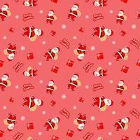 navidad lindo santa claus caja de regalo patrón rojo