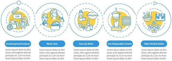 plantilla de infografía de cuidado de la piel. vector