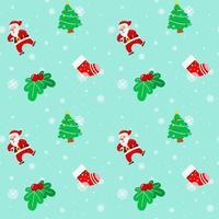 navidad santa claus árbol calcetín cereza patrón