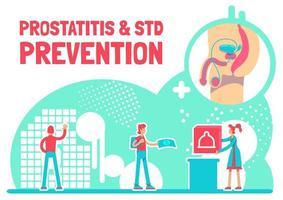 cartel de prevención de prostatitis y enfermedades de transmisión sexual vector