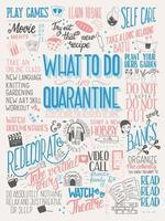 qué hacer en cuarentena, cartel tipográfico