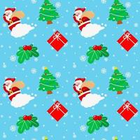 navidad santa claus nube árbol cereza caja de regalo