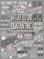 What to do in quarantine, typography poster vector