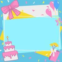 Birthday frames. Celebration b-day icon set