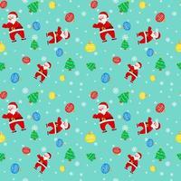 navidad santa claus árbol lámpara turquesa patrón