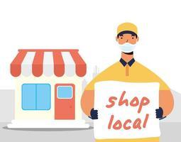 apoyar la composición de la campaña comercial local
