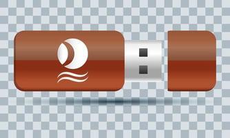 icono de marca de memoria flash usb vector
