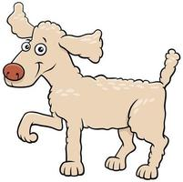 Cartoon poodle dog pet animal character vector