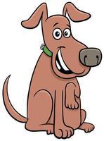 feliz sentado perro mascota animal personaje