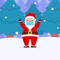 navidad santa personaje con mascarilla