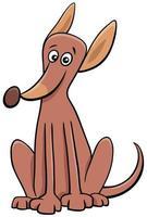 Cartoon sitting dog pet animal character