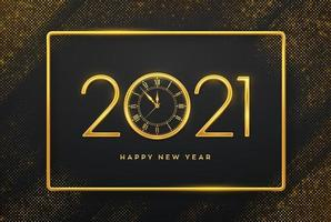 Happy New Year golden luxury numbers 2021