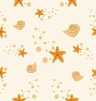 Starfish Shell Stone Pattern
