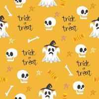 Halloween seamless design elements pattern