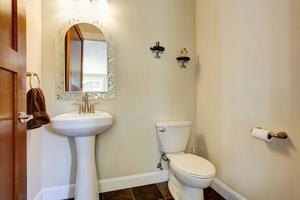 Simple bathroom interior photo