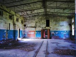 Interior de una base militar soviética abandonada foto