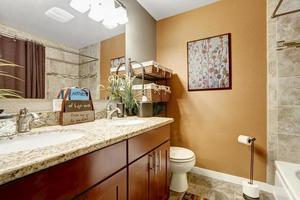 Bathroom interior with decorative elements photo