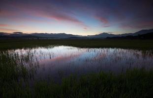 Beautiful dawn at Sabah, Borneo, Malaysia photo