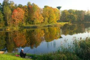 paisaje otoñal de letonia foto