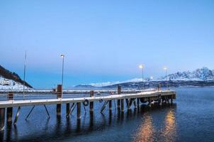 Ferry station at Breivikeidet-Svensby in Norway photo
